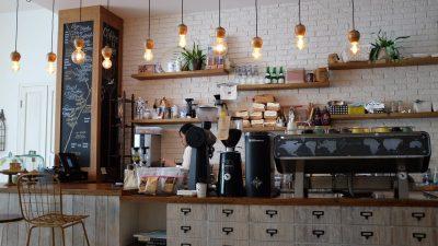 Restaurant Payroll Service. Barista in a coffee shop.